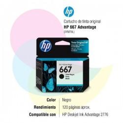 HP 667 Negro - Color